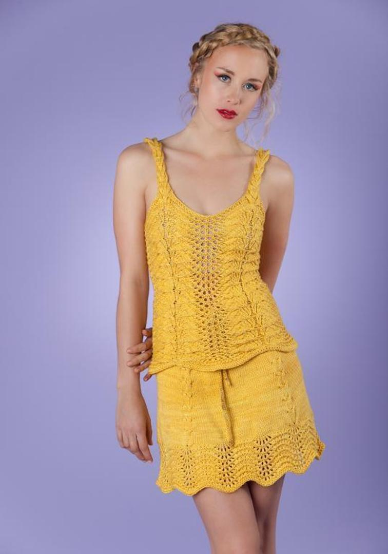 knit Sunflowers Cami