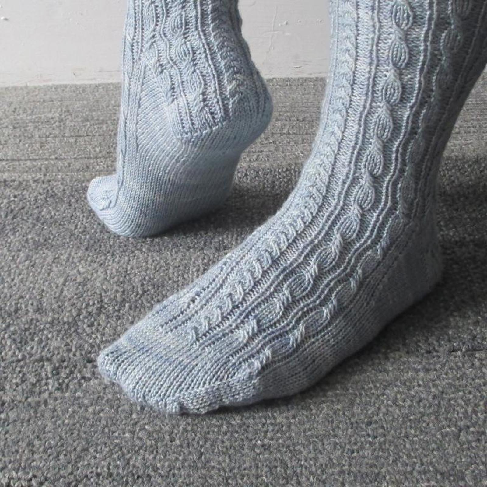Twists and Braids Socks Knitting Pattern