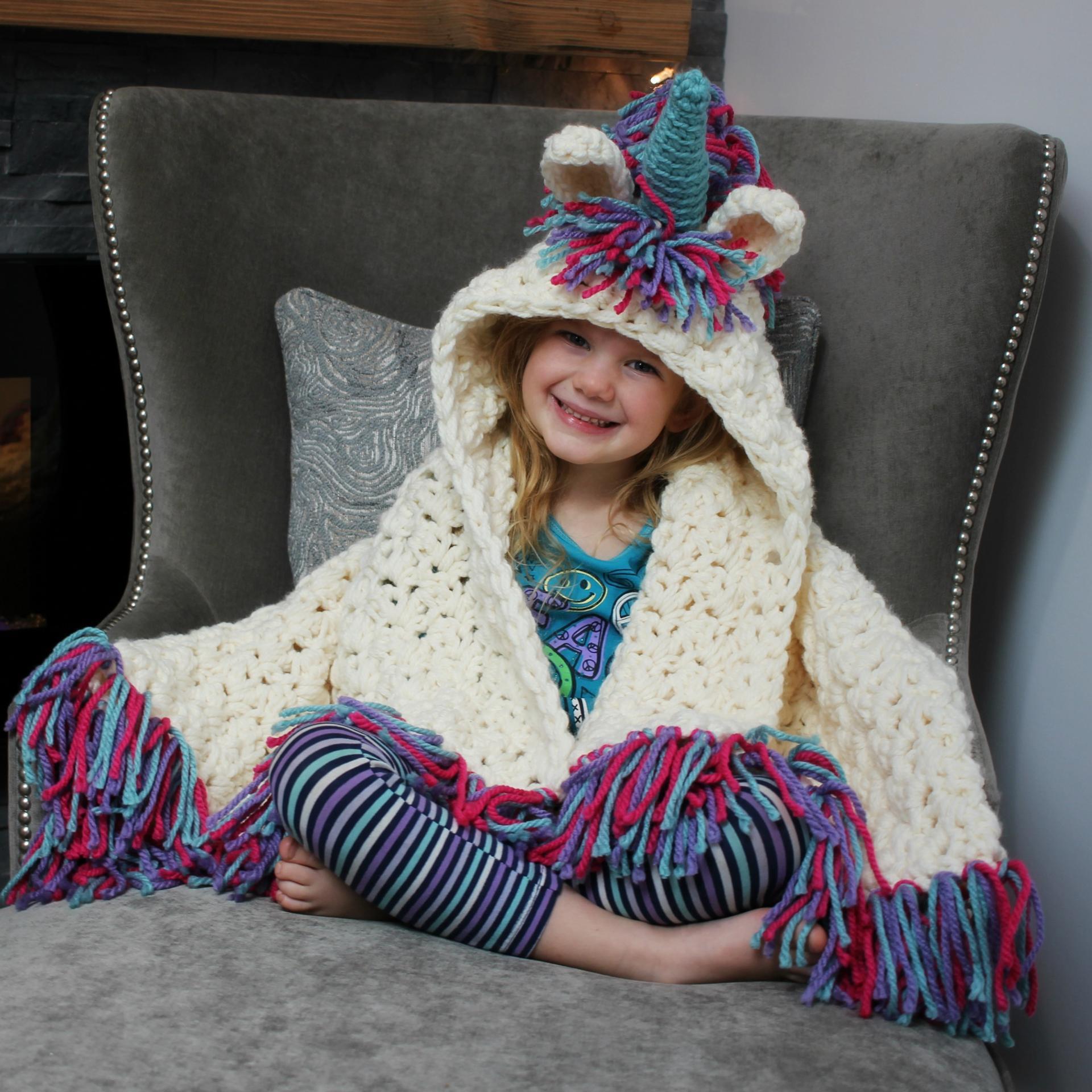 unicorn blanket crochet pattern