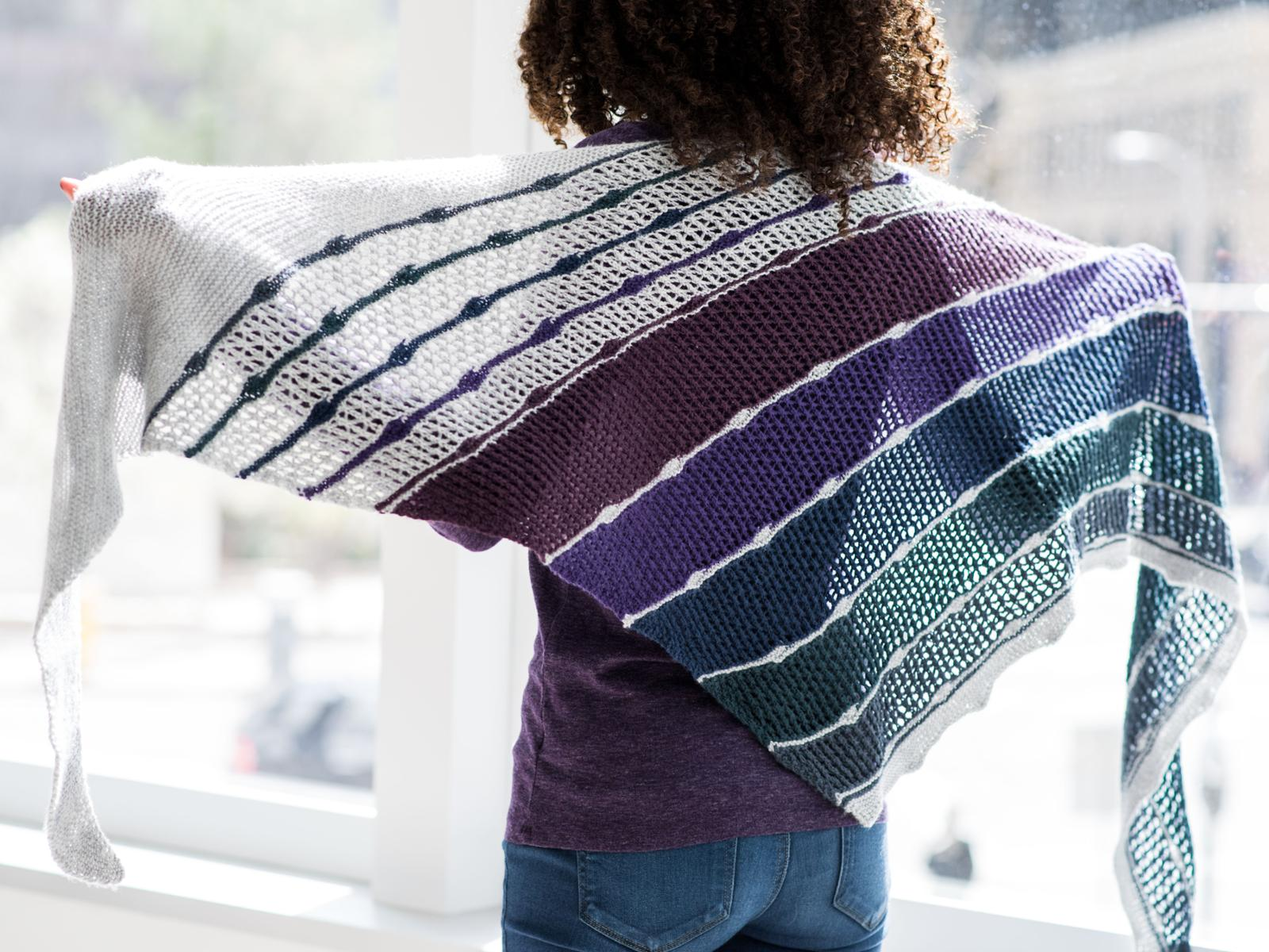 Mad Day Out Shawl Knitting Pattern