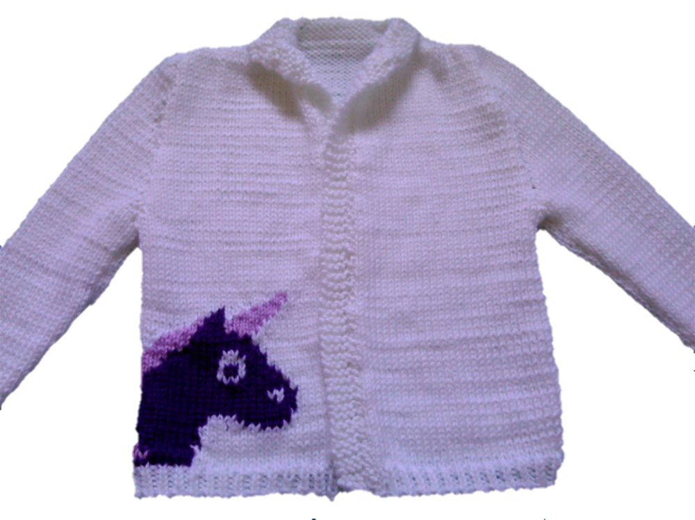 Unicorn Cardigan Knitting Pattern