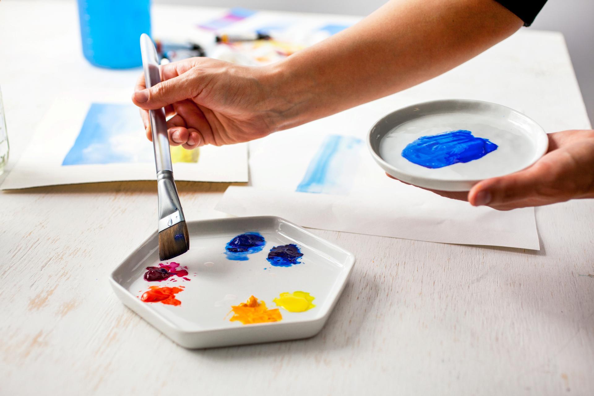 a paint pallete