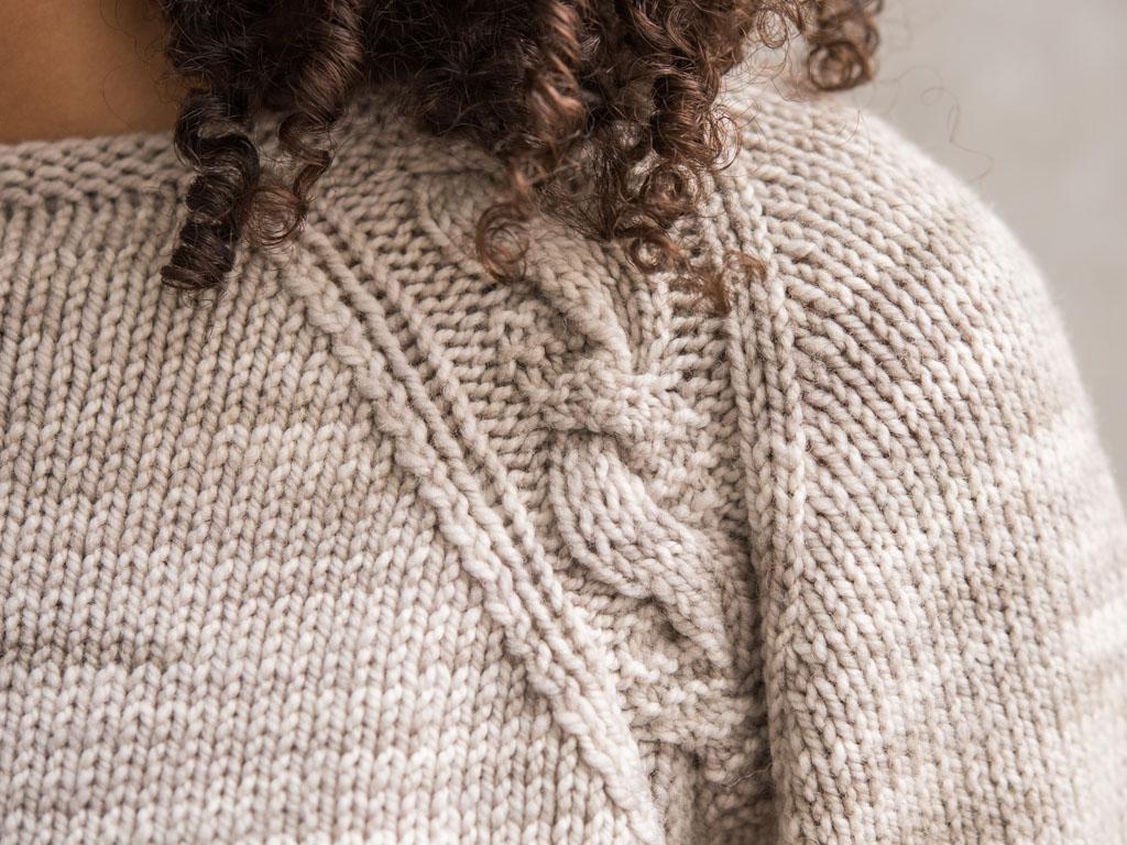 Zadie Sweater Shoulder Detail