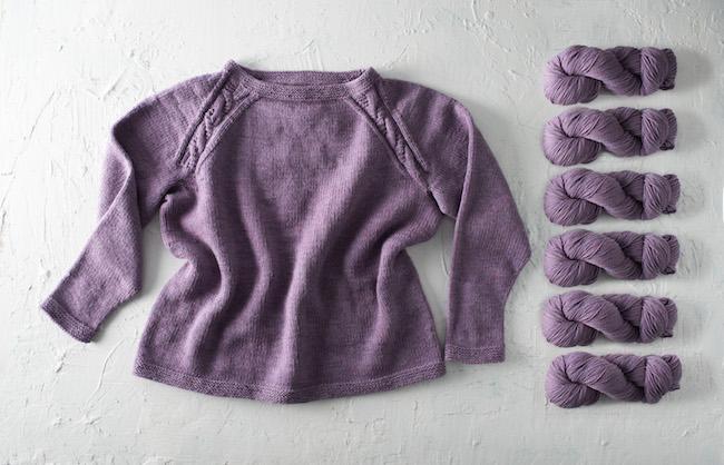Zadie Knit Sweater With Purple Yarn