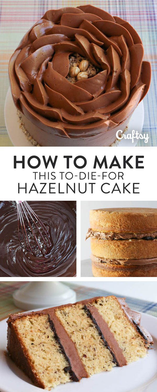 Make this heavenly hazelnut cake with our recipe and decorating tutorial