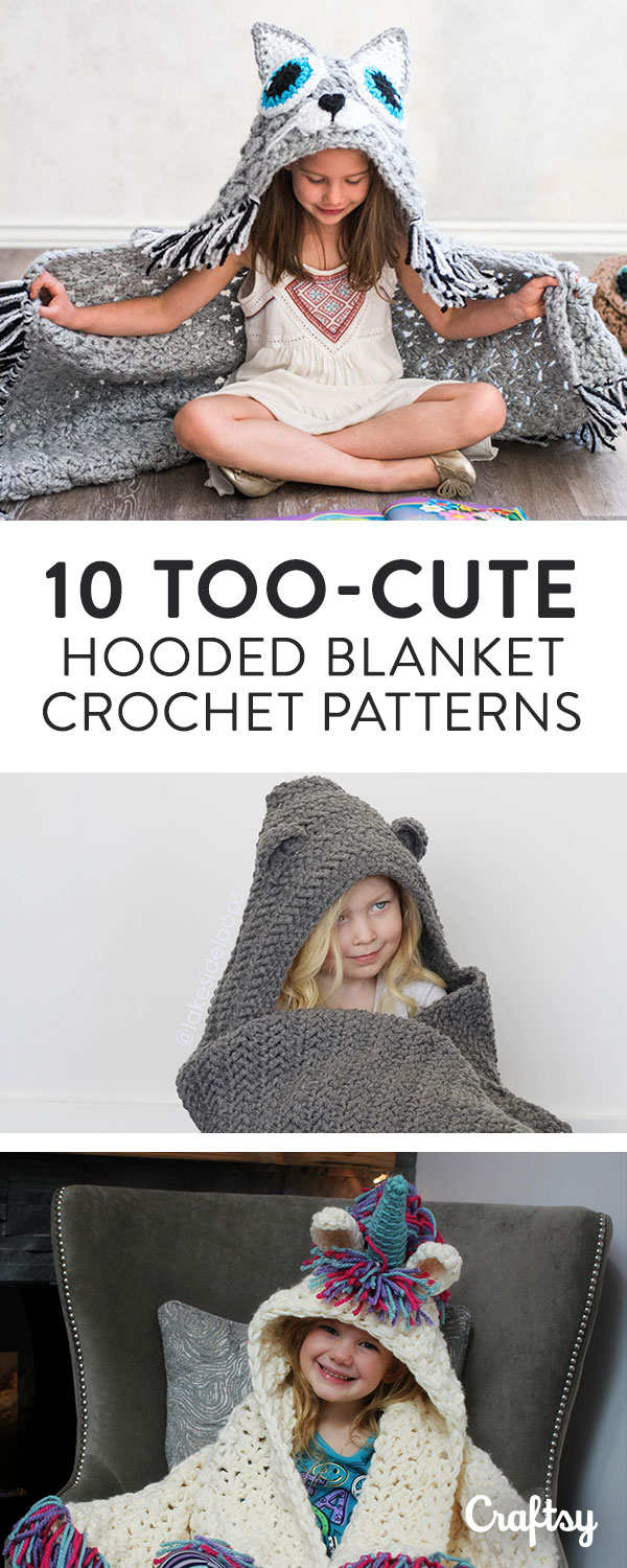 It doesn't get cozier than these hooded crochet blankets