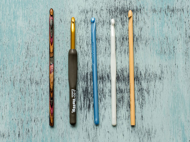 Crochet Hooks Made of Different Materials