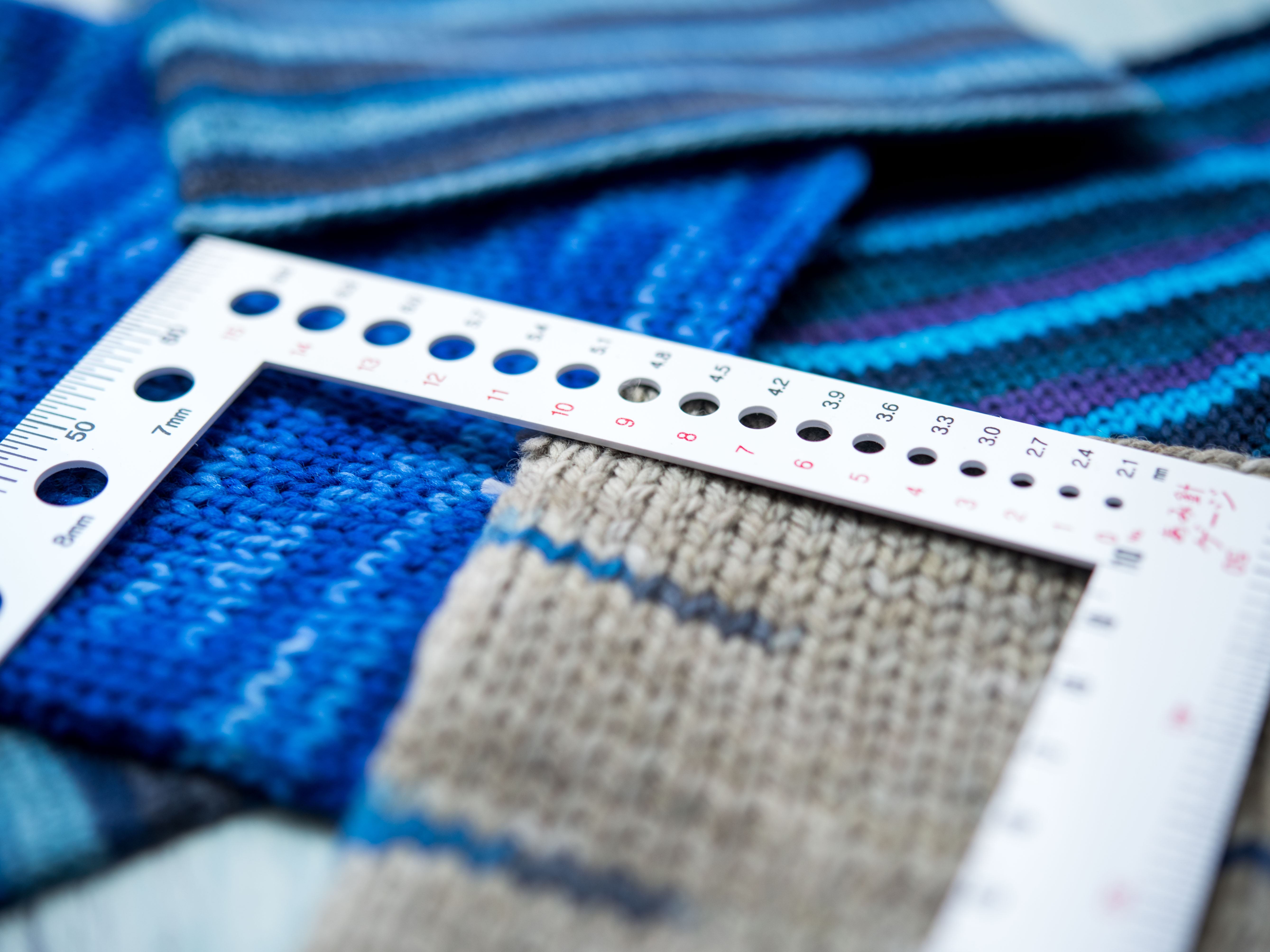 Knit Swatches and Gauge Ruler