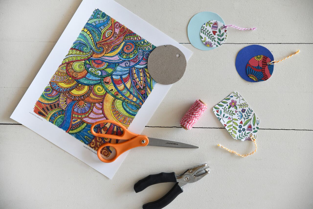 materials needed for handmade gift tags