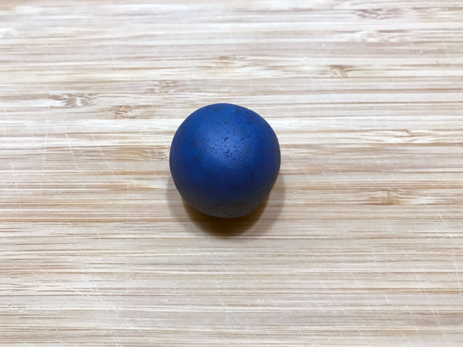 Blue ball of cake pop dough
