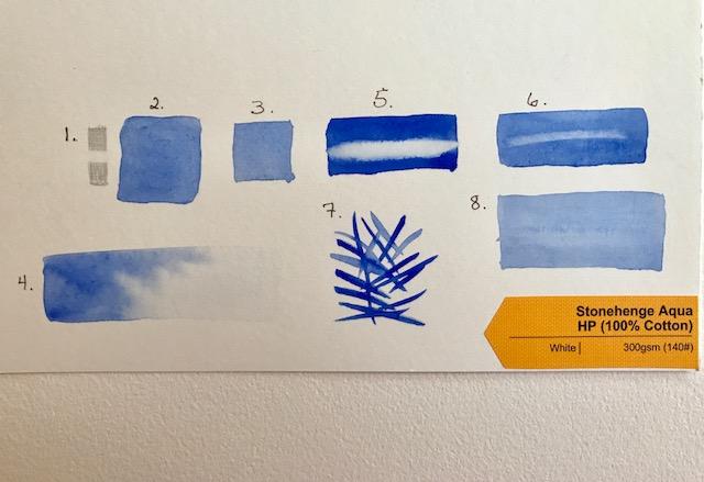 Stonehenge Aqua Hot Press Paper Test
