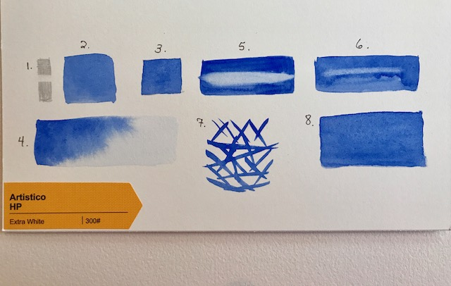 Eight Step Test for Watercolor Paper