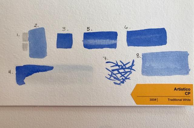 Artistico Cold Press Watercolor Paper Test