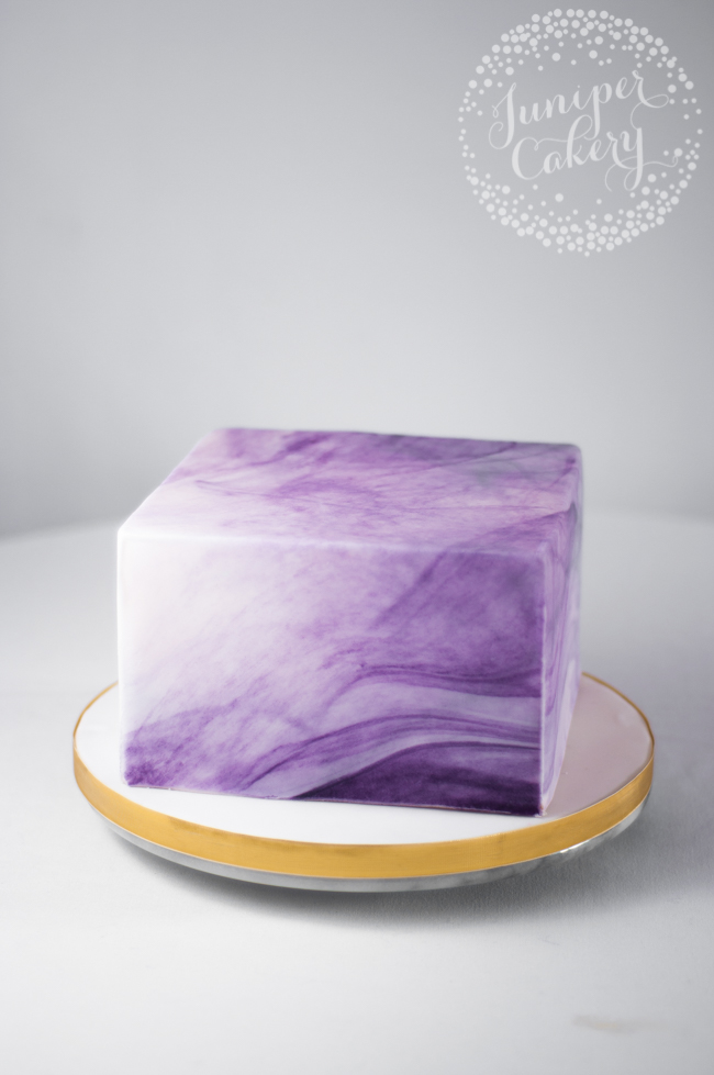 purple marbled agate cake
