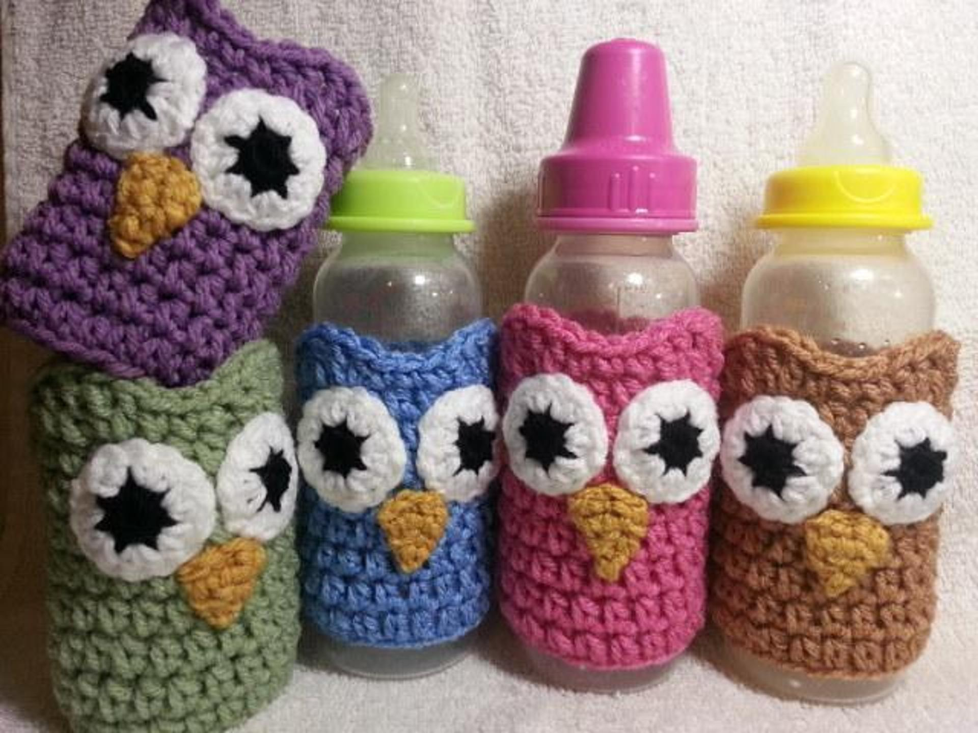 baby bottle crochet cozies