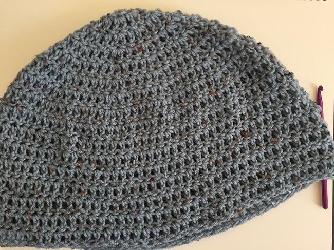 body of crochet slouch hat