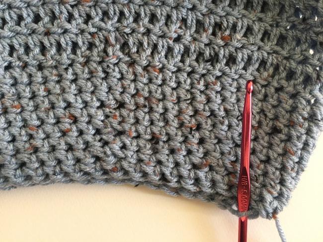 brim of crochet hat
