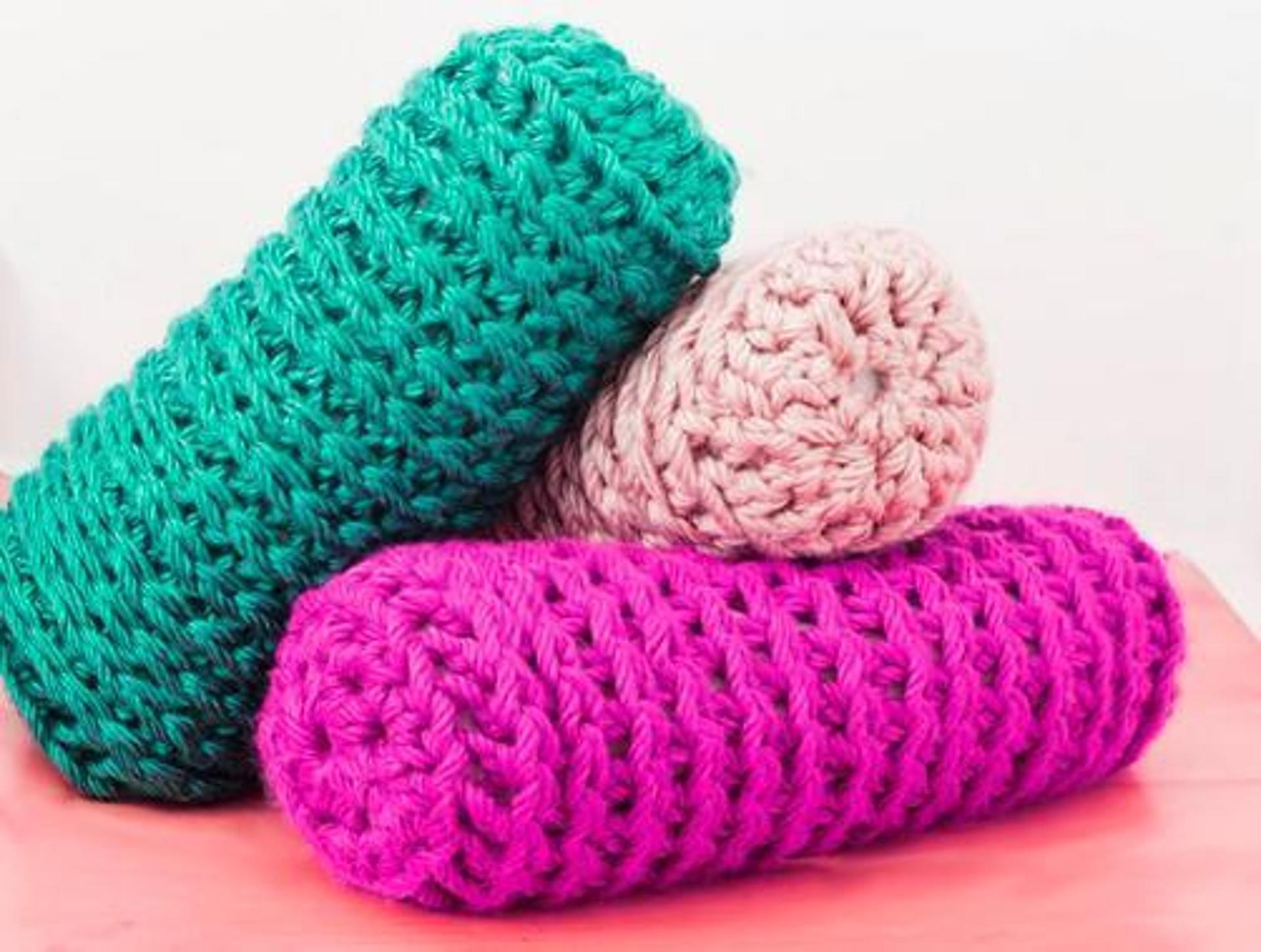 bulky crochet bolster pillow