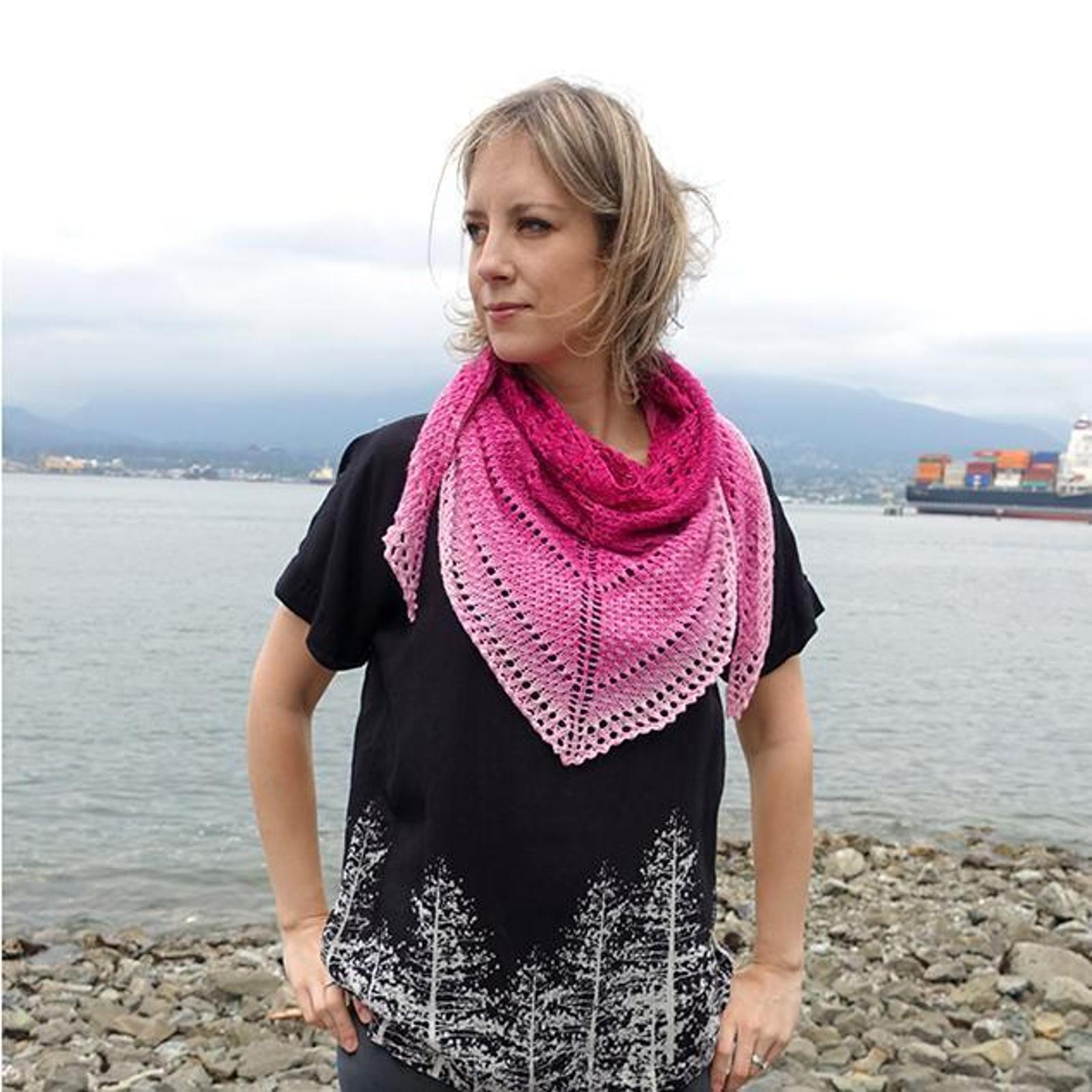 Color Fade Shawl Knitting Pattern
