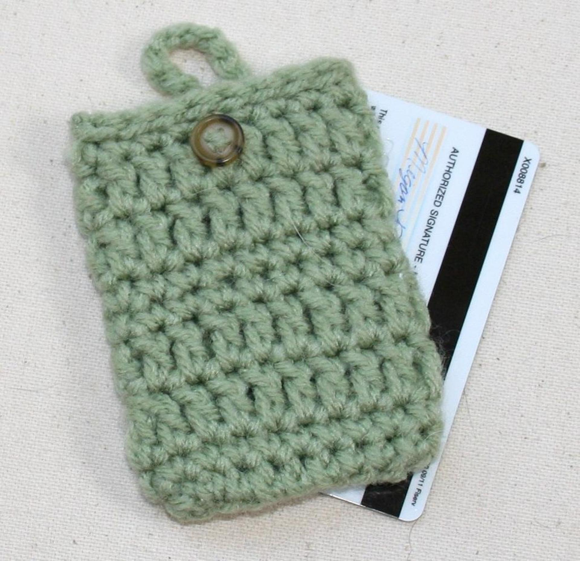 credit card crochet cozy