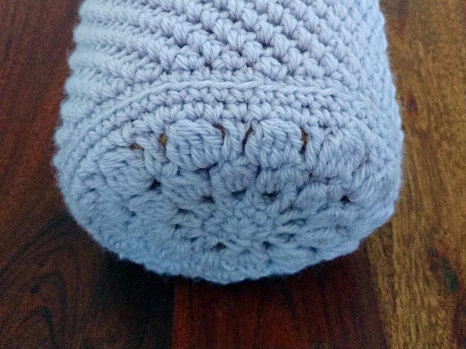 crochet cover for bolster cushion