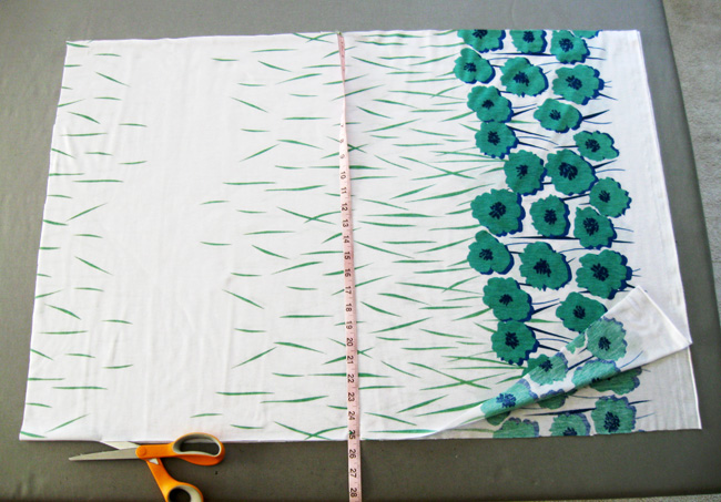 cut two rectangles of fabric