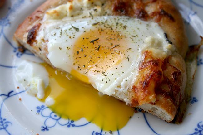 Oozing yolk