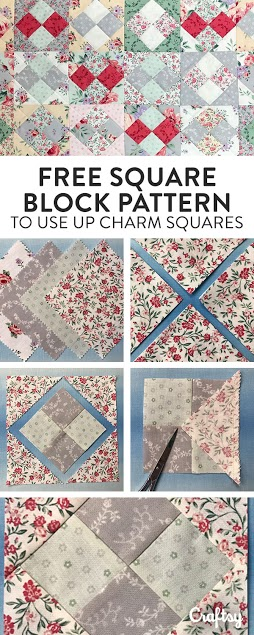 Create this awesome block pattern using charm squares