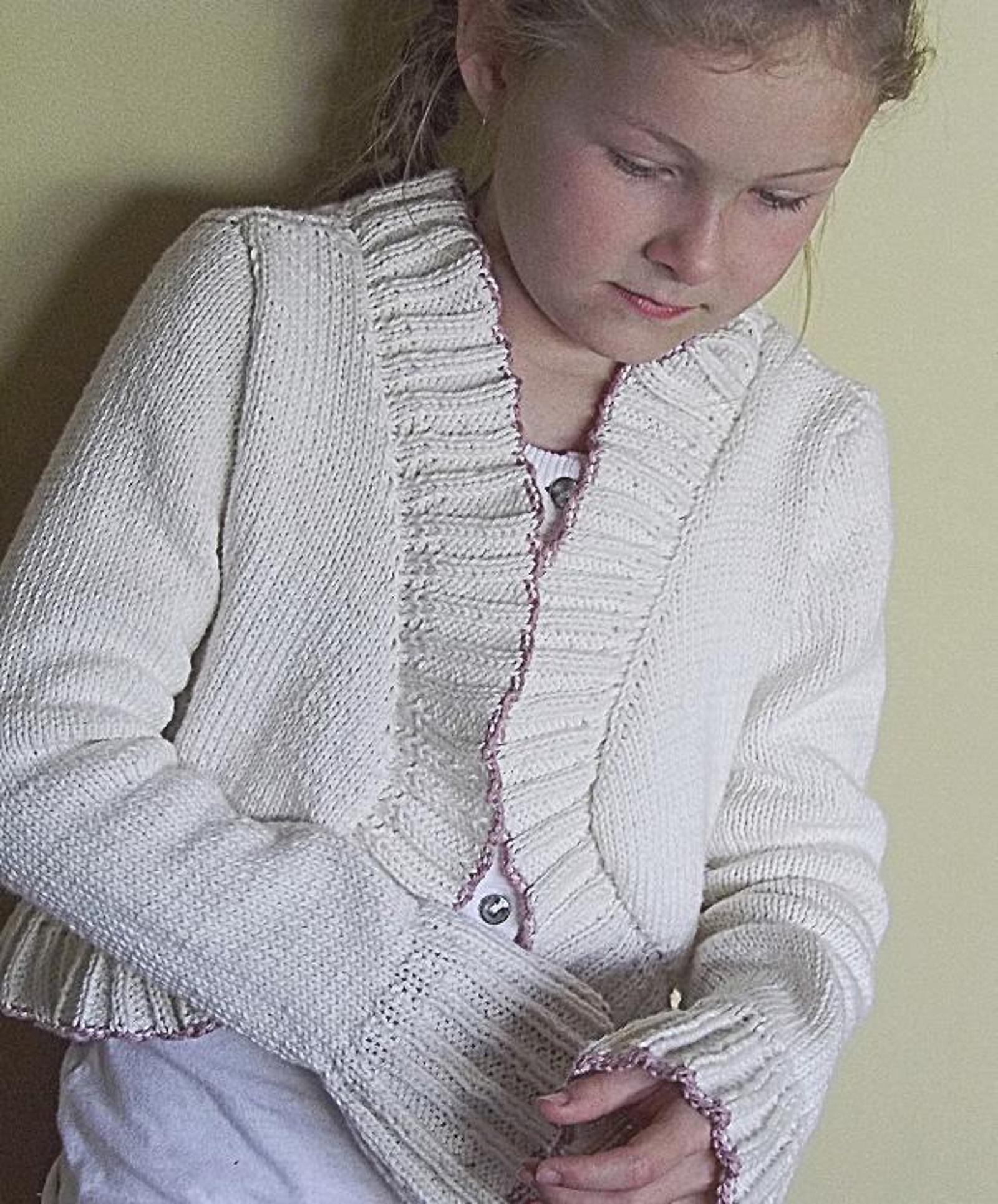 Girls Bolero Knitting Pattern