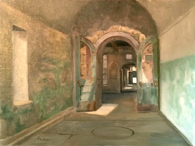 abandoned prison, interior