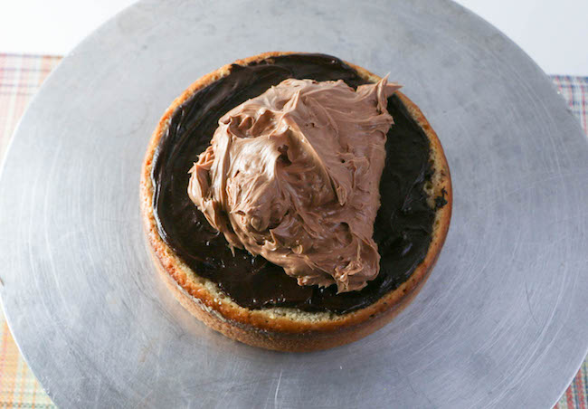 Adding the Chocolate Hazelnut Buttercream | Erin Gardner