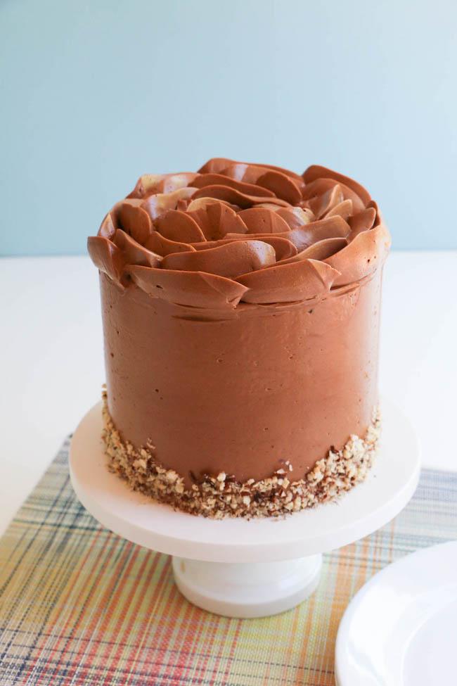 Finished Chocolate Hazelnut Cake | Erin Gardner