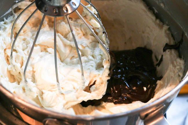 Adding Ganache to the Buttercream | Erin Gardner