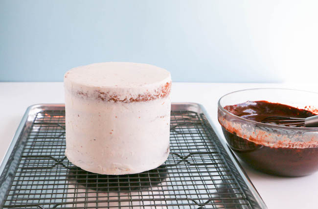 Crumb Coated and Chilled Cake | Erin Gardner | Bluprint