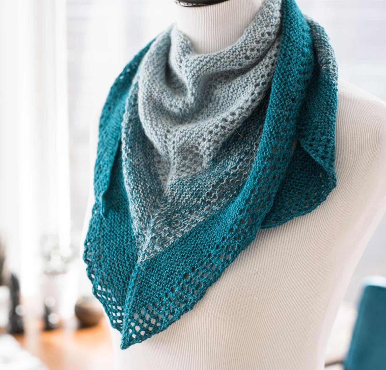 Lacy Shades Shawl Knitting Kit