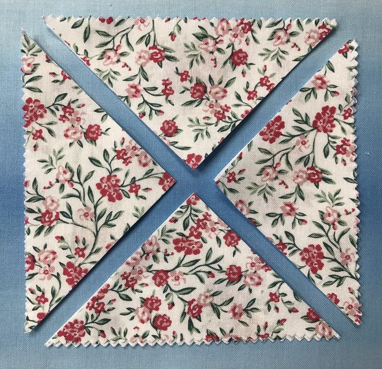 charm squares cut diagonally