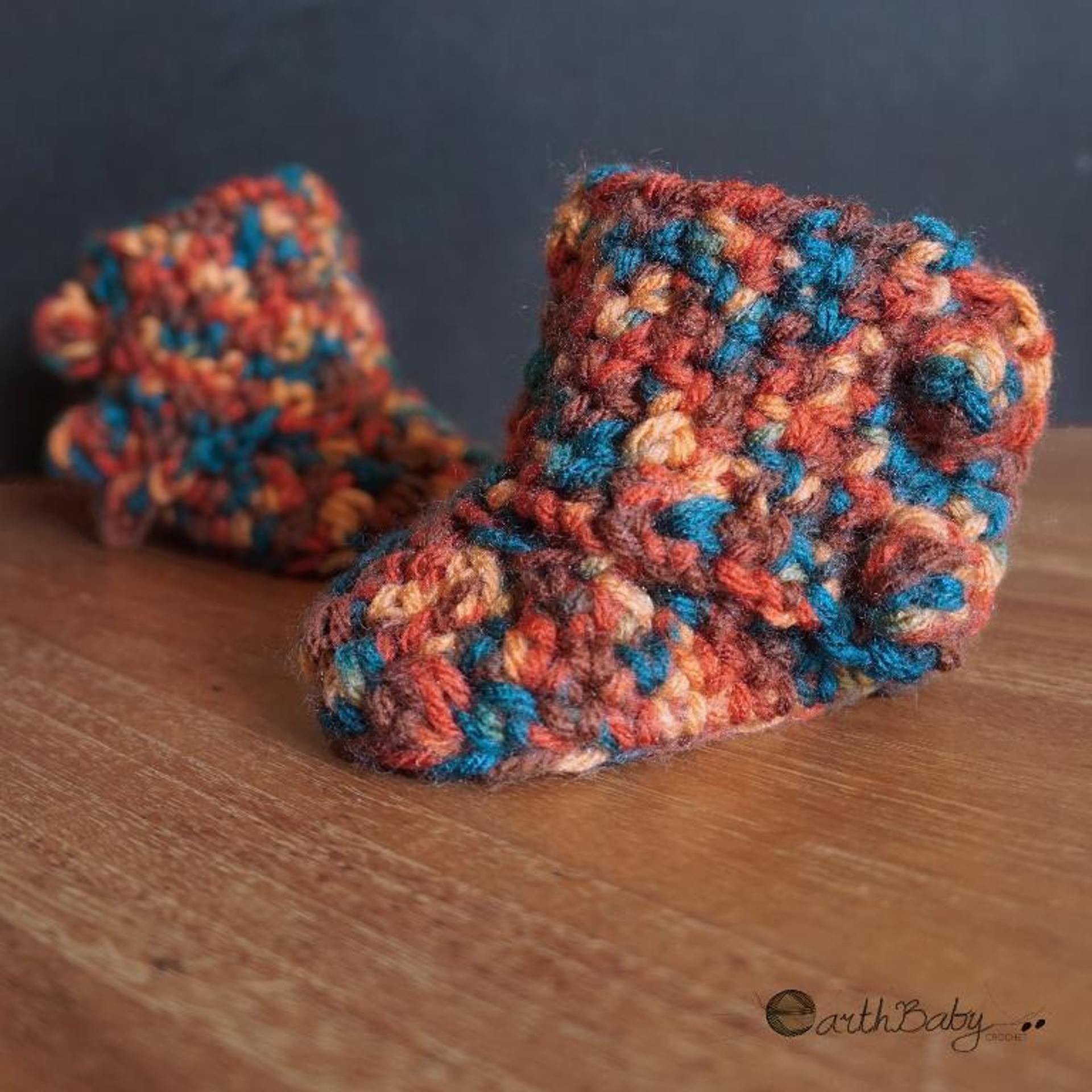 left hand baby booties crochet pattern