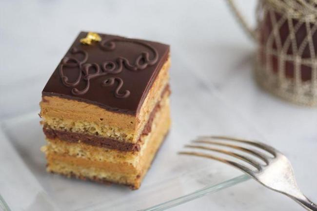 Opera Cake with Ganache Filling by Bluprint Instructor Colette Christian