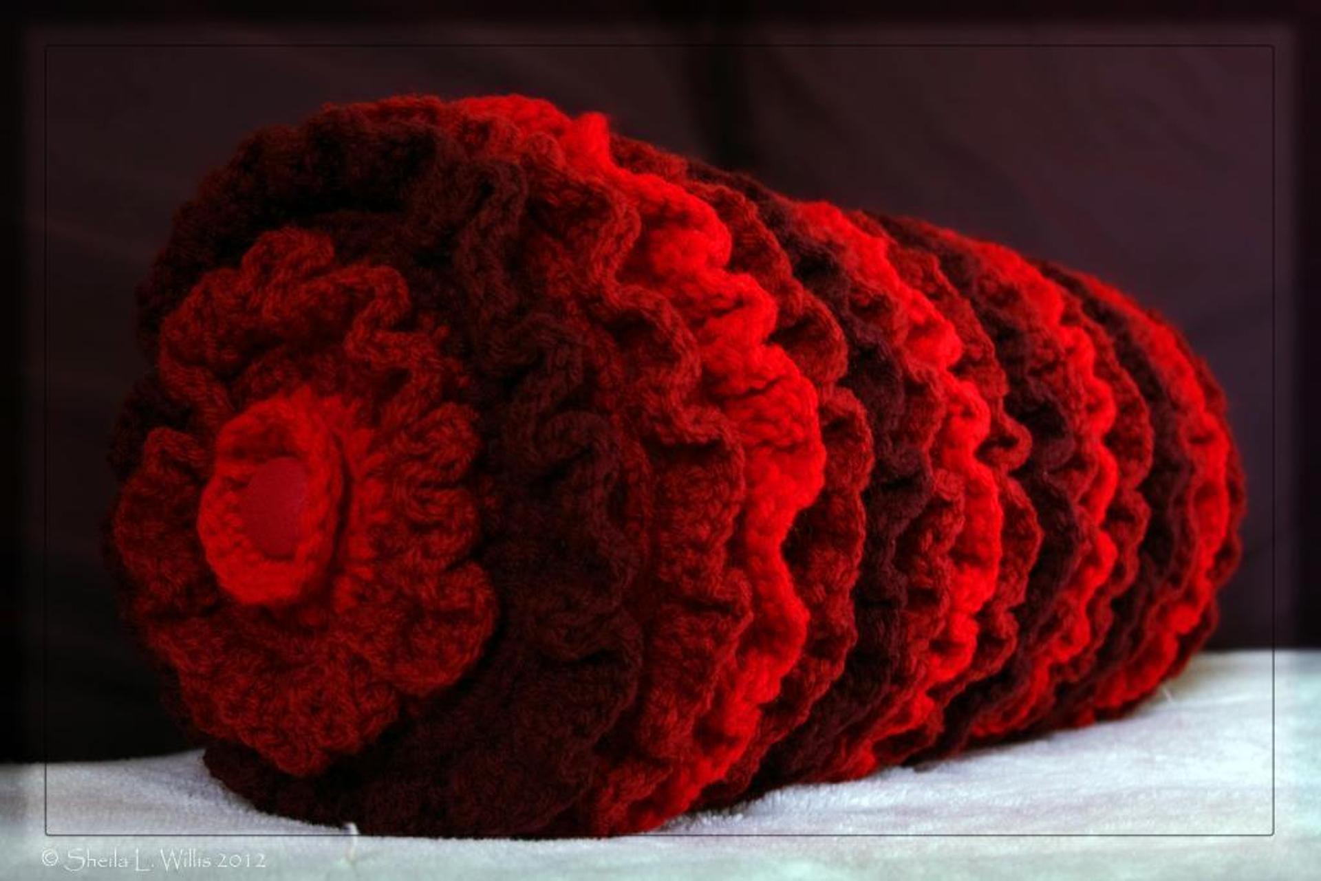 ruffled bolster crochet pattern