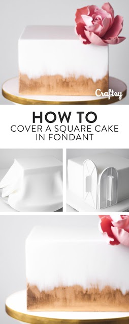 Learn how to cover a square cake in fondant!