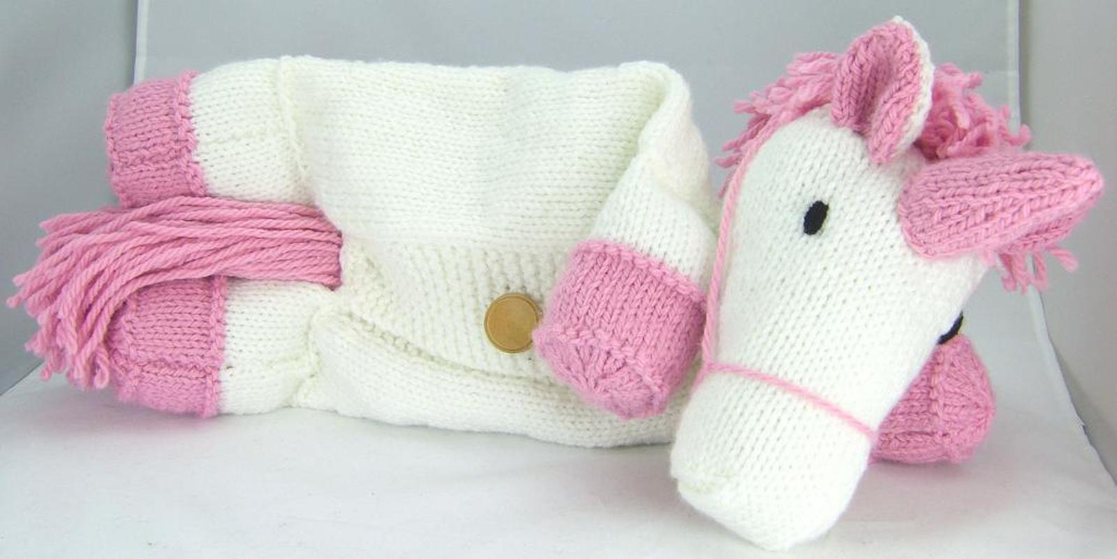 Suki the Unicorn Pajama Case Knitting Pattern