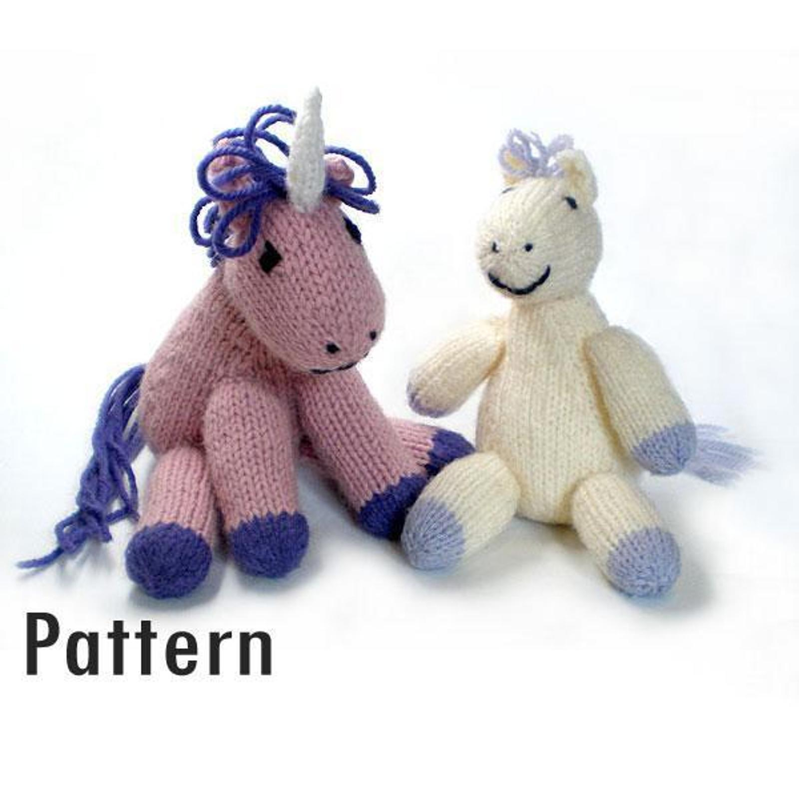 Pony and Unicorn Knitting Pattern