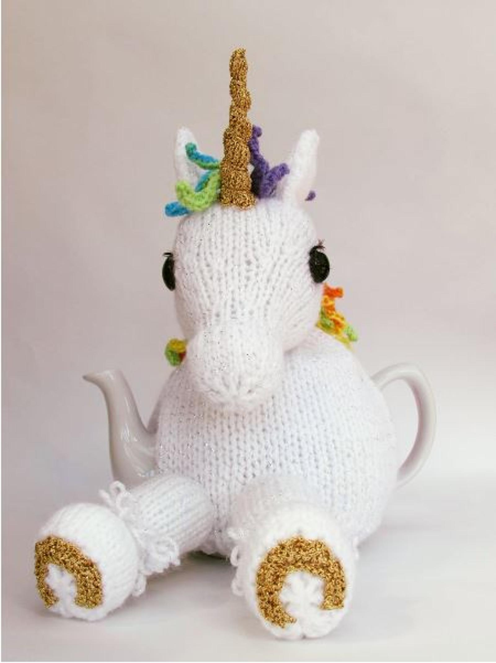 Unicorn Tea Cosy Knitting Pattern