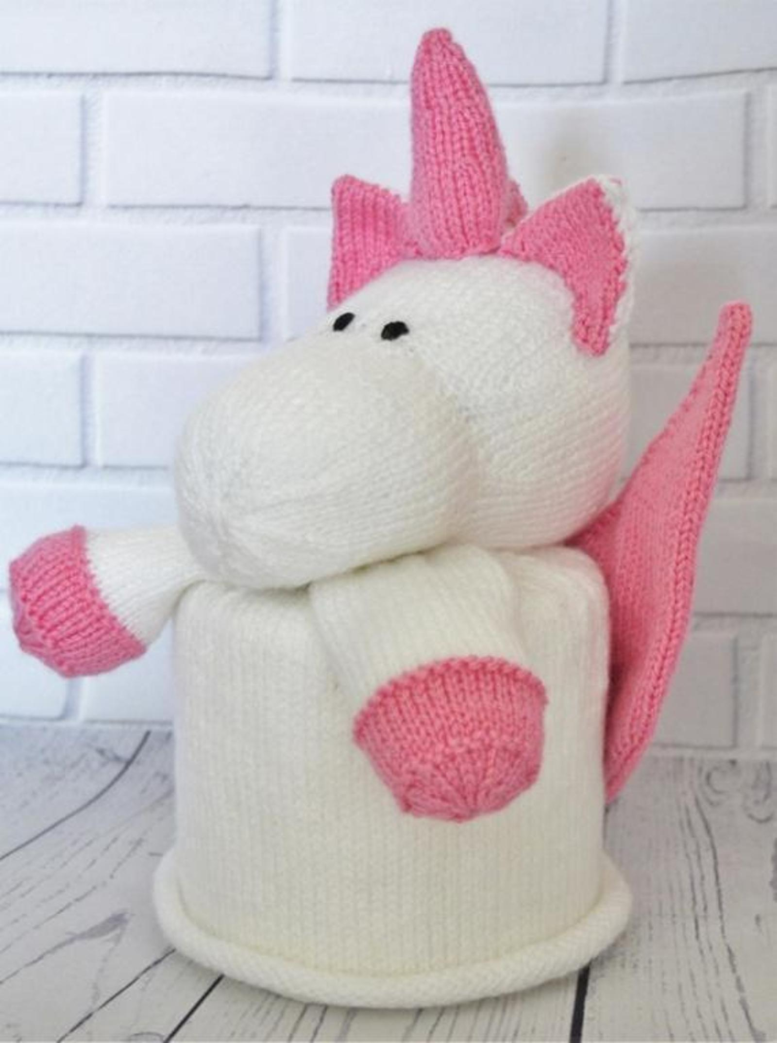 Unicorn Toilet Roll Cover Knitting Pattern