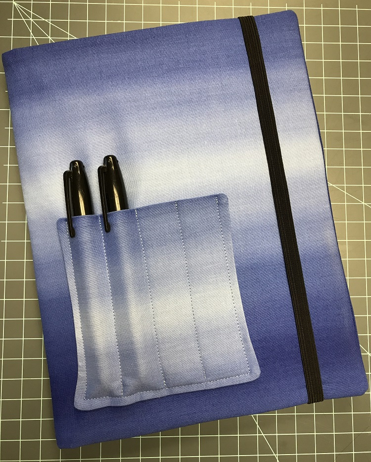 finished hand-sewn journal cover