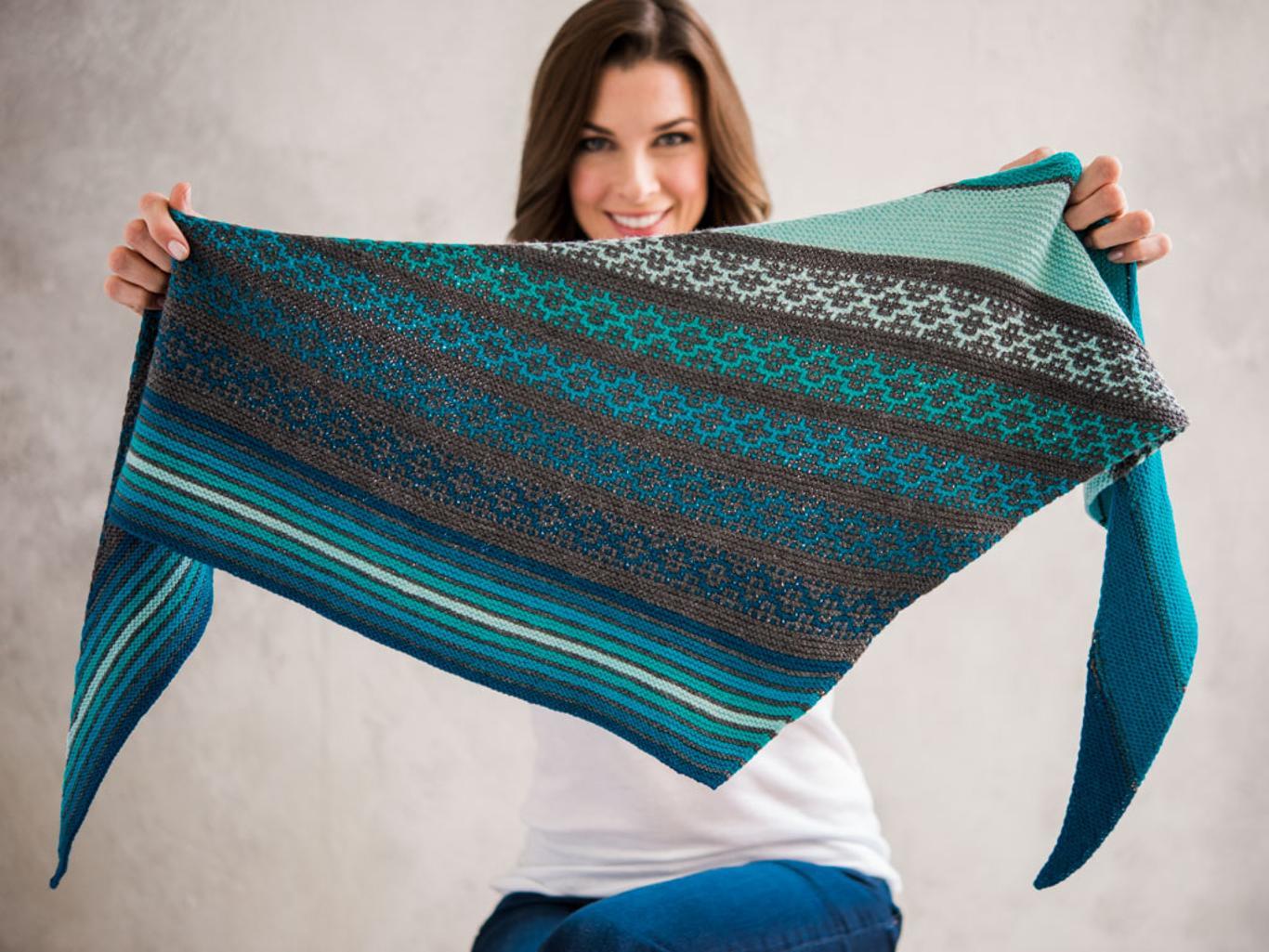 Malini Shawl Knitting