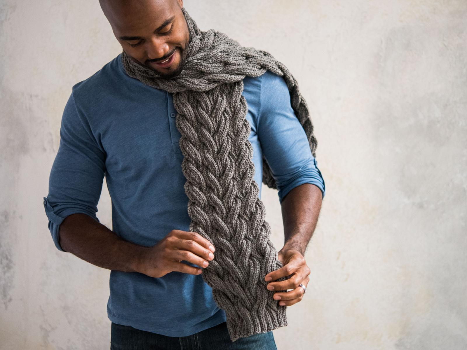 Reversible Cable Scarf Knitting Kit