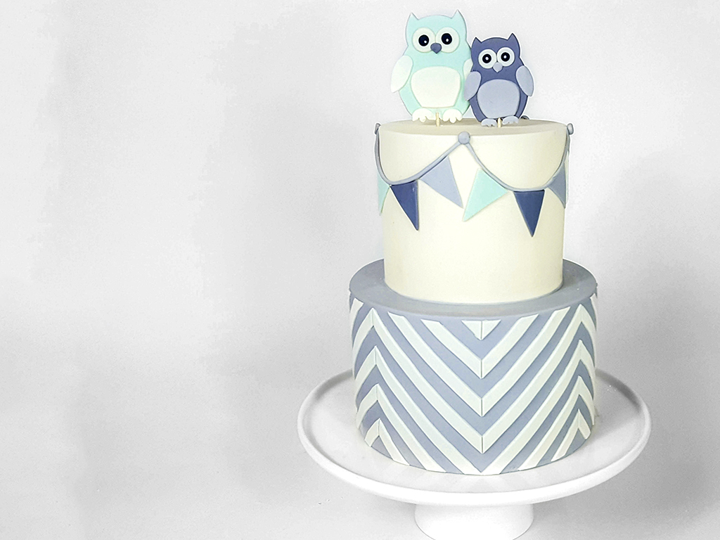Mommy and Baby Owl Cake