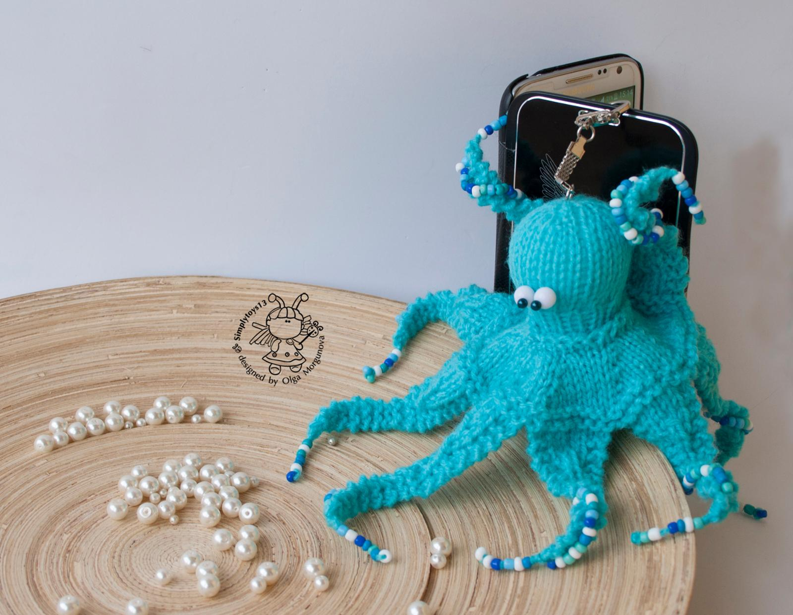 Keychain Octopus Knitting Pattern
