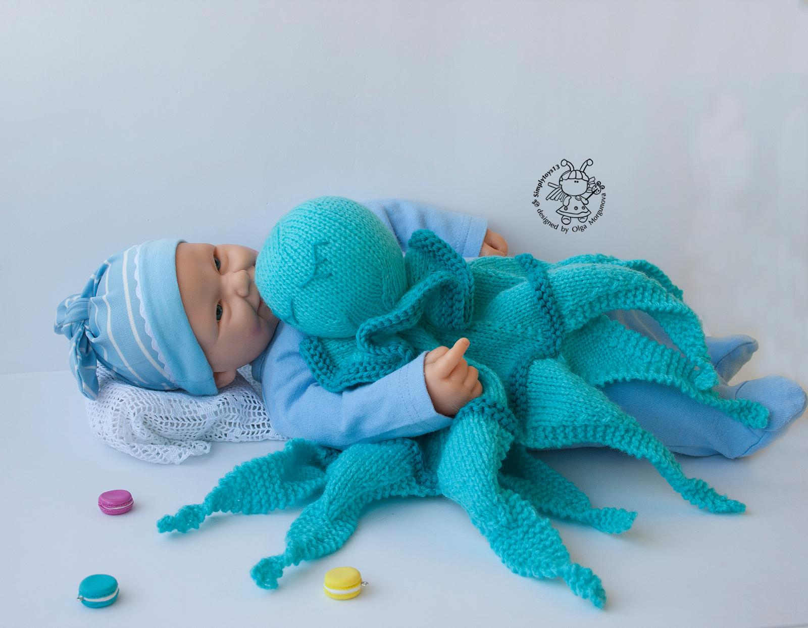 Octopus Toy Lace Baby Blanket Knitting Pattern